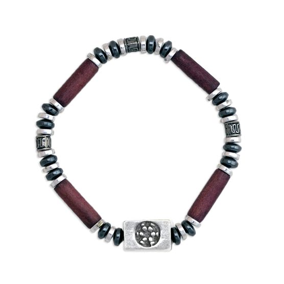 Power Hematite SportBEAD Soccer Bracelet (Brown) - SPECIAL PRICING - LIMITED QUANTITES