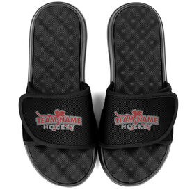 Hockey PR SOLES® Adjustable Strap Recovery Slide Sandals - Your Team Name