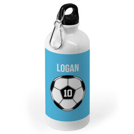 Soccer 20 oz. Stainless Steel Water Bottle - Personalized Ball