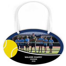 Tennis Oval Sign - Team Photo With Ball
