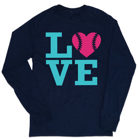 Softball Tshirt Long Sleeve - Love
