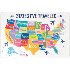 "Personalized 18"" X 12"" Aluminum Room Sign - States I've Traveled (Dry Erase)"