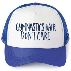 Gymnastics Trucker Hat - Gymnastics Hair Don't Care