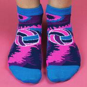 Volleyball Ankle Socks - Volleyball Tie-Dye Swirl