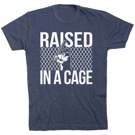 Baseball Tshirt Short Sleeve Raised in a Cage Baseball