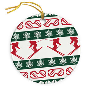 Skiing Porcelain Ornament Ugly Sweater