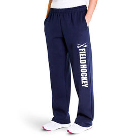 Field Hockey Fleece Sweatpants - Field Hockey With Sticks