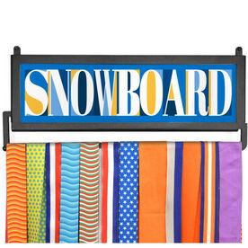 AthletesWALL Medal Display - Snowboard Mosaic