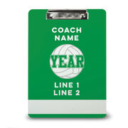 Volleyball Custom Clipboard Personalized Volleyball Coach