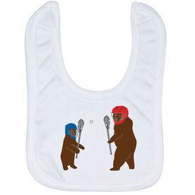 Guys Lacrosse Baby Bib - Bears