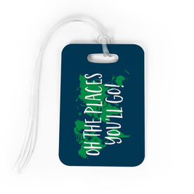 You Bag/Luggage Tag - Oh The Places You'll Go Map
