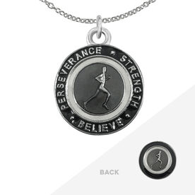 Runner's Creed Pendant Necklace - 1.5cm