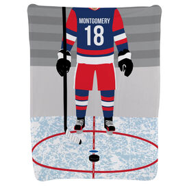 Hockey Baby Blanket - Hockey Player