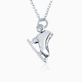 Sterling Silver Necklace - Figure Skate