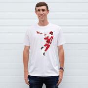 Guys Lacrosse Short Sleeve T-Shirt - Santa Laxer