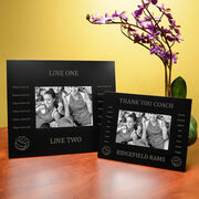 Volleyball Engraved Picture Frame - Team Name With Roster (Coach)