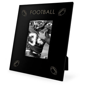 Football Engraved Picture Frame - Four Corners