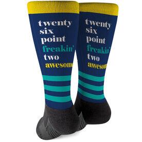 Running Printed Mid-Calf Socks - Run Mantra (Awesome)