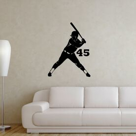 Personalized Softball Batter Removable ChalkTalkGraphix Wall Decal