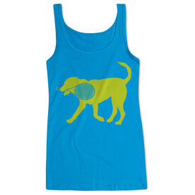 Tennis Women's Athletic Tank Top Dennis The Tennis Dog