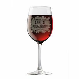Personalized Wine Glass - Golf Tournament