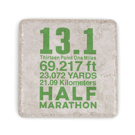 Running Stone Coaster - 13.1 Math Miles