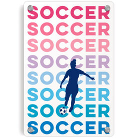 Soccer Metal Wall Art Panel - Fade
