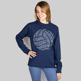 Volleyball T-Shirt Long Sleeve Volleyball Words