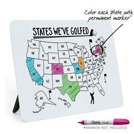 Golf Desk Art - States We've Golfed Outline