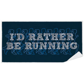 Running Premium Beach Towel - I'd Rather Be