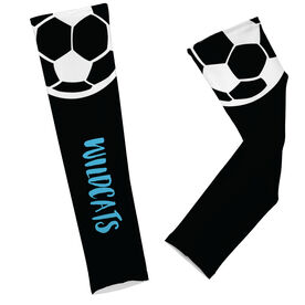 Soccer Printed Arm Sleeves Soccer Ball with Text
