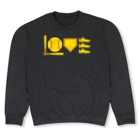 Softball Crew Neck Sweatshirt - Love To Play
