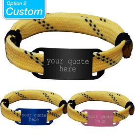 CUSTOM RaceLACE Mantra Bracelet - YELLOW