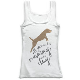 Running Vintage Fitted Tank Top - All You Need is Running And A Dog