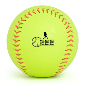Personalized Softball - Batter with Your Text