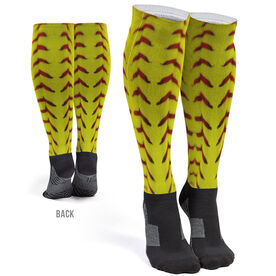 Softball Printed Knee-High Socks - Photo Stitches