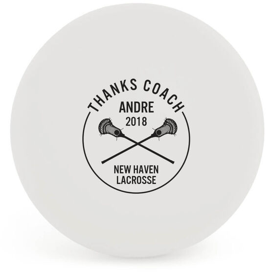 Personalized Printed Lacrosse Ball Thanks Coach (Color)