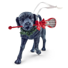 Lacrosse Resin Ornament LuLa the Lax Dog