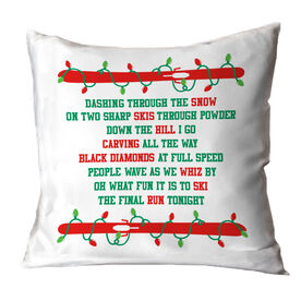 Skiing Throw Pillow - Jingle All The Way