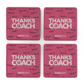 Cheerleading Stone Coasters Set of Four - Coach (Autograph)