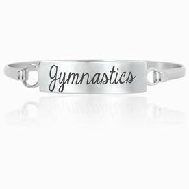 Gymnastics Engraved Clasp Bracelet Gymnastics