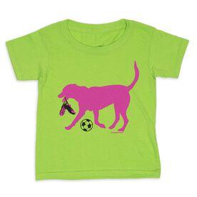 Soccer Toddler Short Sleeve Tee - Sasha the Soccer Dog