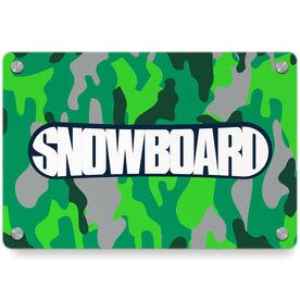 Snowboarding Metal Wall Art Panel - Top Snowboarding
