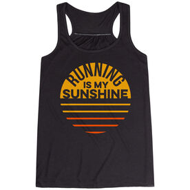 Flowy Racerback Tank Top - Running is My Sunshine