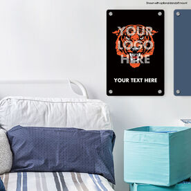"Personalized 18"" X 12"" Aluminum Room Sign - Custom Logo Vertical"