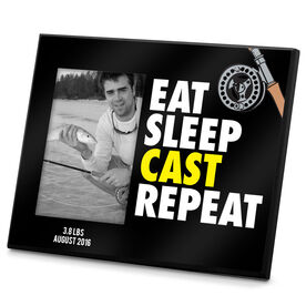 Fly Fishing Photo Frame Eat Sleep Cast Repeat