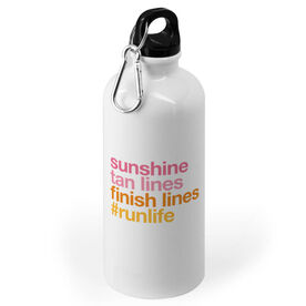 Running 20 oz. Stainless Steel Water Bottle - Sunshine Tan Lines Finish Lines