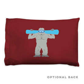 Snowboarding Pillowcase - Are You Yeti To Snowboard