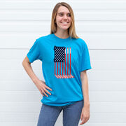 Hockey Short Sleeve T-Shirt - American Flag