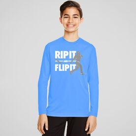 Baseball Long Sleeve Performance Tee - Rip It Flip It